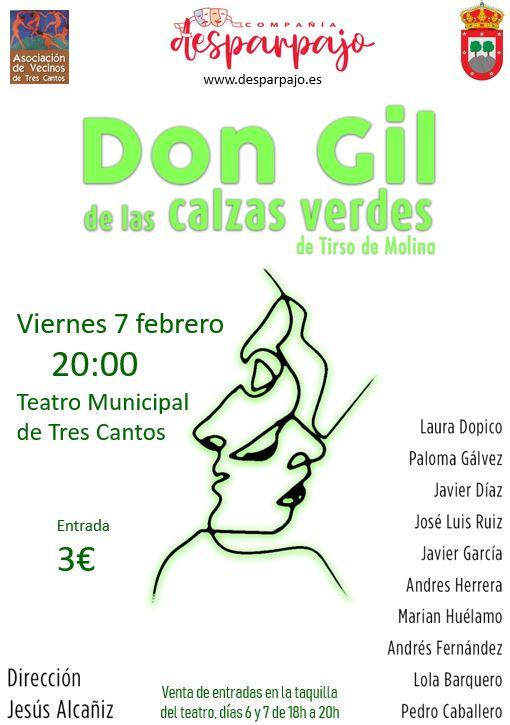 Viernes 7 de febrero 2020. Teatro Municipal de Tres Cantos